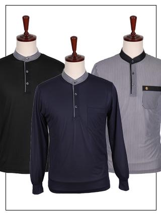 ATS-059 골프웨어 차이나 카라티셔츠