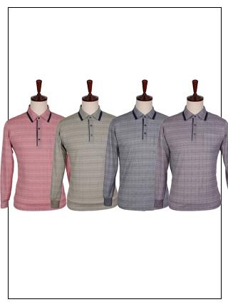 ATS-061 골프웨어 사각체크 카라티셔츠