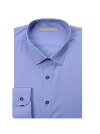 FS-240 블루단추 슬림셔츠