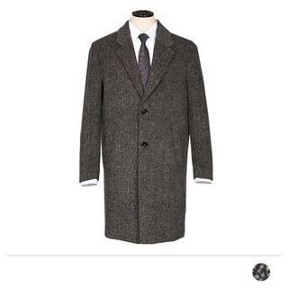 MJ_1188 세피아 빗살보카시 체스터필드 코트 [제작 대량 도매 로고 인쇄 레이저 마킹 각인 나염 실크 uv 포장 공장 문의는 네이뽕]