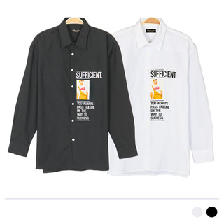 FSS18055 멜빵맨 셔츠 [제작 대량 도매 로고 인쇄 레이저 마킹 각인 나염 실크 uv 포장 공장 문의는 네이뽕]