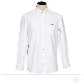 FSS18074 화이트 포켓 체크라인 셔츠