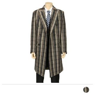 MJS18092 보스맨 브라운체크 코트 [제작 대량 도매 로고 인쇄 레이저 마킹 각인 나염 실크 uv 포장 공장 문의는 네이뽕]