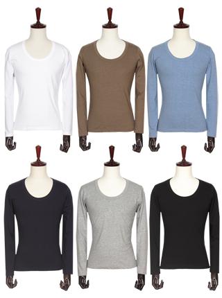 [더산의류] 남성 MTS-931 베이직 면소재 U넥 티셔츠