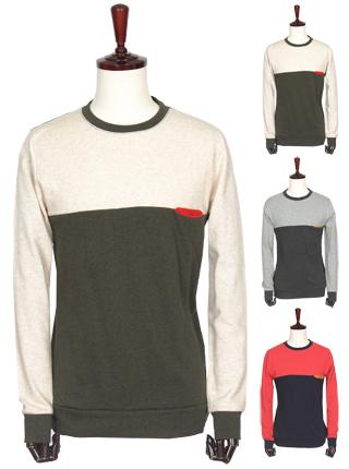 [더산의류] 남성 MTS-937단배색 컬러포켓 라운드 티셔츠