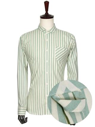 [더산의류] 남성 FS920 캐주얼 소브리에 스트라이프 셔츠-민트