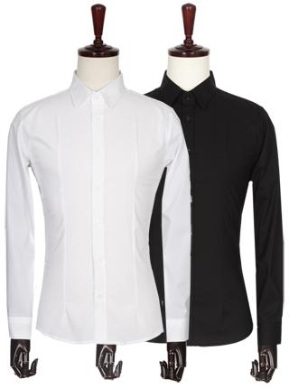 [더산의류] 남성 FS097 베이직 다트라인 슬림핏 스판 셔츠