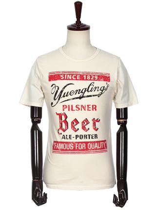 [더산의류] 남성 MTS-907 SINCE1829 라운드넥 반팔 티셔츠-아이보리