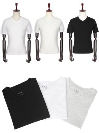 [더산의류] 남성 (기획특가) MTS-912 무지 브이넥 반팔 티셔츠