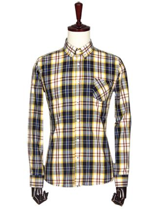 [더산의류] 남성 FS075 캐주얼 타탄체크 셔츠-네이비