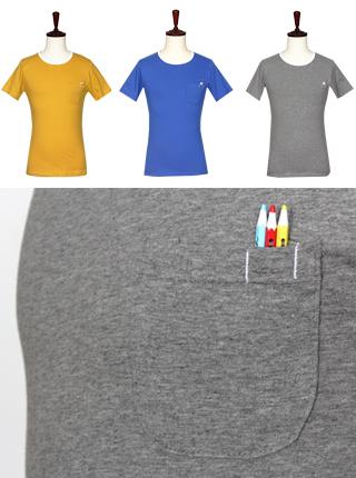 [더산의류] 남성 (기획특가) MTS-923 가슴포켓 연필 포인트 반팔 티셔츠
